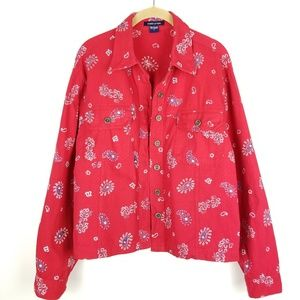 Boston Proper Paisley Bandana Print Jacket